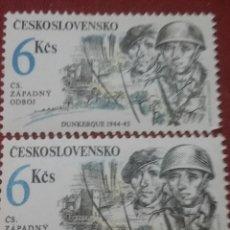 Sellos: SELLOS R. CHECOSLOVAQUIA NUEVOS/1992/DUNKERKE/ACONTECIMIENTOS/II GUERRA/MUNDIAL/SOLDADO/UNIFORMES. Lote 204207361