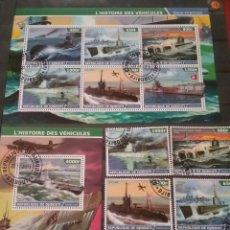 Sellos: HB 2+SELLOS R. DJIBOUTI (YIBUTI) MTDS/2015/BARCO/SUBMARINO/FLOTA/MINA/GUERRA/MILITAR/TRANSPORTE/BAMD. Lote 205789481