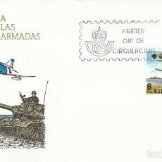 Sellos: EDIFIL 2572, DIA DE LAS FUERZAS ARMADAS, PRIMER DIA DE MADRID DE 24-5-1980 SFC. Lote 206370261