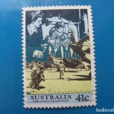 Sellos: +AUSTRALIA 1990,CUERPOS EXPEDICIONARIOS AUSTRALIA Y NUEVA ZELANDA EN LA 1ª GUERRA MUNDIAL,YVERT1156. Lote 206428931