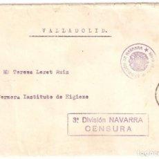 Sellos: CARTA CON MARCA DE CENSURA 3ª DIVISIÓN NAVARRA Y FRANQUICIA ESTADO MAYOR 3ª DIVISIÓN DE NAVARRA. Lote 206756283