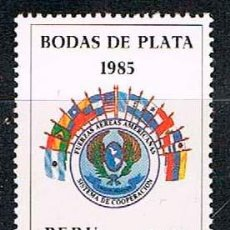 Sellos: PERU Nº 1279, 1985 XXV ANIVº DE LA COOPERACIÓN ENTRE LAS FUERZAS AÉREAS LATINOAMERICANAS, NUEVO ***. Lote 210455070
