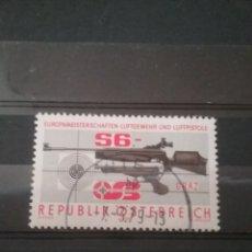 Sellos: SELLOS AUSTRIA (OSTERREICH) MTDOS/1979/CAMPEONATO/RIFLE/AIRE/DEPORTE/JUEGOS/ARMAS/DIANA/ATLETAS/COPA. Lote 210644973