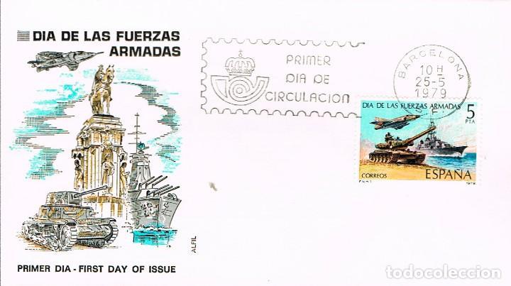 EDIFIL 2525, DIA DE LAS FUERZAS ARMADAS, PRIMER DIA DE 25-5-1979 ALFIL (Sellos - Temáticas - Militar)