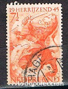HOLANDA IVERT Nº 433 (AÑO 1945), SELLO DE LA LIBERACION, 2ª GUERRA MUNDIAL, USADO (Sellos - Temáticas - Militar)