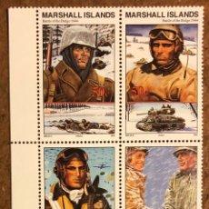Sellos: BATALLA DE LAS ARDENAS (2ª GUERRA MUNDIAL) 4 SELLOS ISLAS MARSHALL 1994.. Lote 217176513