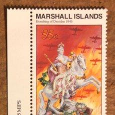 Sellos: BOMBARDEO DE DREDE (2ª GUERRA MUNDIAL) 1 SELLO ISLAS MARSHALL DE 1995. MILITAR.. Lote 217177803