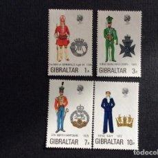 Sellos: GIBRALTAR Nº YVERT 284/7*** AÑO 1971. UNIFORMES MILITARES (IV). Lote 220799535