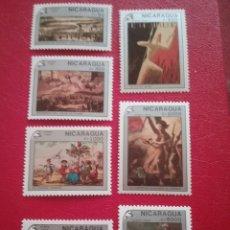 Sellos: SELLOS NICARAGUA NUEVOS/1989/200ANIV/REVOLUCION/FRANCIA/BANDERA/MILITAR/ARTE/CUADROS/PINTURAS/ARMAS. Lote 220844991