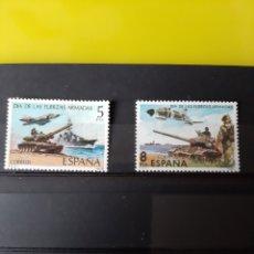 Sellos: 1980 EDIFIL 2525 2572 FUERZAS ARMADAS ESPAÑOLAS TANQUES AVIONES MILITAR 1979 1980. Lote 222409946