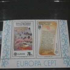 Sellos: HB CHIPRE NORTE (TURCOCHIPRIOTA) NUEVA/1983/EUROPA/CEPT/LEYENDAS/EJERCITO/SOLDADO/CABALLO/GUERRA/NAT. Lote 222602792