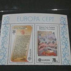 Sellos: HB CHIPRE NORTE (TURCOCHIPRIOTA) NUEVA/1983/EUROPA/CEPT/LEYENDAS/EJERCITO/SOLDADO/CABALLO/GUERRA/NAT. Lote 222602900