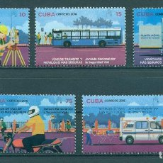 Sellos: 6156 CUBA 2016 MNH NATIONAL ROAD SAFETY DAY. Lote 226310491