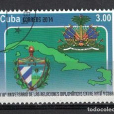 Sellos: 5785-2 CUBA 2014 U THE 110TH ANNIVERSARY OF DIPLOMATIC RELATIONS WITH HAITI. Lote 226310713