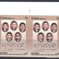 Sellos: 6238BR-2 CUBA 2017 MNH THE 50TH ANNIVERSARY OF THE DEATH OF CHE GUEVARA, 1928-1967. Lote 226311066
