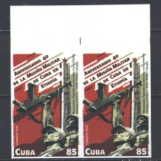 Sellos: 6343NP-2 CUBA 2018 MNH THE 40TH ANNIVERSARY OF THE MILITARY MISSION IN ETHIOPIA. Lote 226311113
