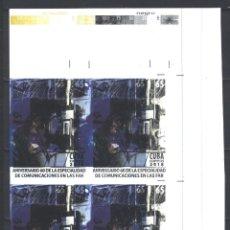 Sellos: 6333BR-4 CUBA 2018 MNH THE 60TH ANNIVERSARY OF FAR RADIO. Lote 226311291
