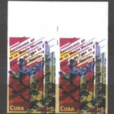 Sellos: 6343BR-2 CUBA 2018 MNH THE 40TH ANNIVERSARY OF THE MILITARY MISSION IN ETHIOPIA. Lote 226311296