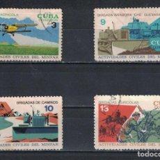 Sellos: 1447 CUBA 1968 U CIVIL ACTIVITIES OF CUBAN ARMED FORCES. Lote 226312403