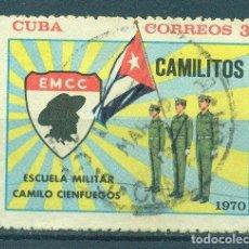 Sellos: 1663-2 CUBA 1970 U THE CAMILO CIENFUEGOS MILITARY SCHOOL. Lote 226312766