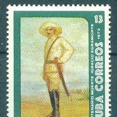 Sellos: 1877-2 CUBA 1973 MNH THE 100TH ANNIVERSARY OF THE DEATH OF MAJOR-GENERAL IGNACIO AGRAMONTE. Lote 226313313