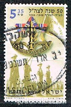 ISRAEL Nº 1462, 50 NIVERSARIO DE LAS FUERZAS ARMADAS ISRAELIES. USADO (Sellos - Temáticas - Militar)