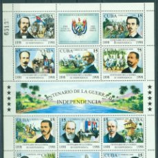 Sellos: ML4183-2 CUBA 1998 MNH THE 100TH ANNIVERSARY OF THE CUBAN WAR OF INDEPENDENCE. Lote 228165555
