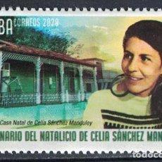 Sellos: 2019-38 CUBA 2019 MNH 100TH ANNIVERSARY OF THE BIRTH OF CELIA SANCHEZ MANDULEI. Lote 228166180