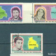 Sellos: 1817-3 CUBA 1972 U THE 5TH ANNIVERSARY OF THE DAY OF GUERRILLAS. Lote 228166225