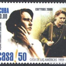 Sellos: 5282-2 CUBA 2009 MNH HAYDEE SANTAMARIA CUADRADO, 1922-1980. Lote 228166276