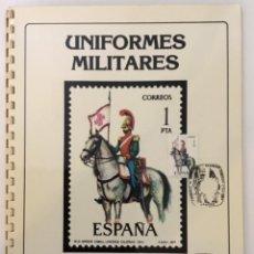 Sellos: COLECCIÓN ÁLBUM UNIFORMES MILITARES DE ESPAÑA 1973-1983 TEXTO GERMÁN LAGE EDICIÓN BANINSA. Lote 254992070