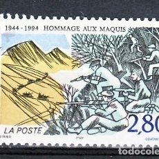 Sellos: TEMA MILITARES. FRANCIA 1994 2876 SOLDADOS EN BATALLA 1V.. Lote 235800010