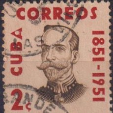 Sellos: 434-3 CUBA 1954 U THE 100TH ANNIVERSARY OF THE BIRTH OF RODRIGUEZ. Lote 238902850