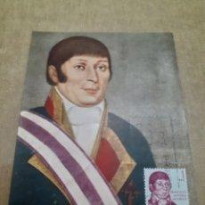 Sellos: POSTAL ANTIGUA CON SELLO MATASELLADO MISMA IMAGEN FRANCISCO ANTONIO MOURELLE. Lote 242336840
