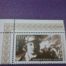 Sellos: SELLO ALEMANIA R. FEDERAL NUEVO/1994/2CENT/MUERTE/FW/STEUBEN/MILITAR/AMERICA/BANDERA/GENERAL/CABALLO. Lote 243490220