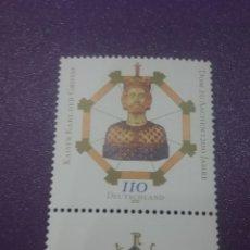 Sellos: SELLO ALEMANIA. R. FEDERAL NUEVO/2000/1200ANIV/CATEDRAL/AACHEN/CARLOMARGO/MILITAR/SOLDADO/RELIGION/C. Lote 244429760