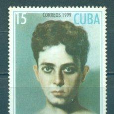Sellos: 🚩 CUBA 1999 THE 100TH ANNIVERSARY OF THE BIRTH OF RUBEN MARTINEZ VILLENA, 1899-1934 MNH -. Lote 244694990