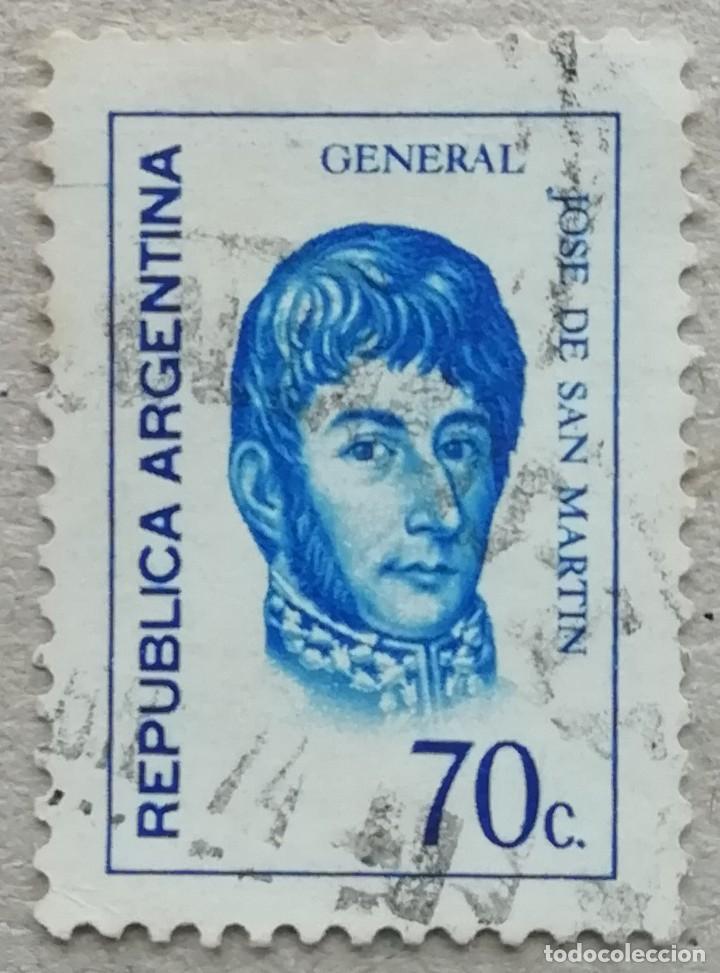 1973. ARGENTINA. 949. GENERAL JOSÉ DE SAN MARTÍN. USADO. (Sellos - Temáticas - Militar)