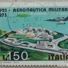 Sellos: 1973. ITALIA. A-147. MEDIO SIGLO DE LAS FUERZAS AÉREAS ITALIANAS. POZZOULI. SERIE COMPLETA. USADO.. Lote 245001840