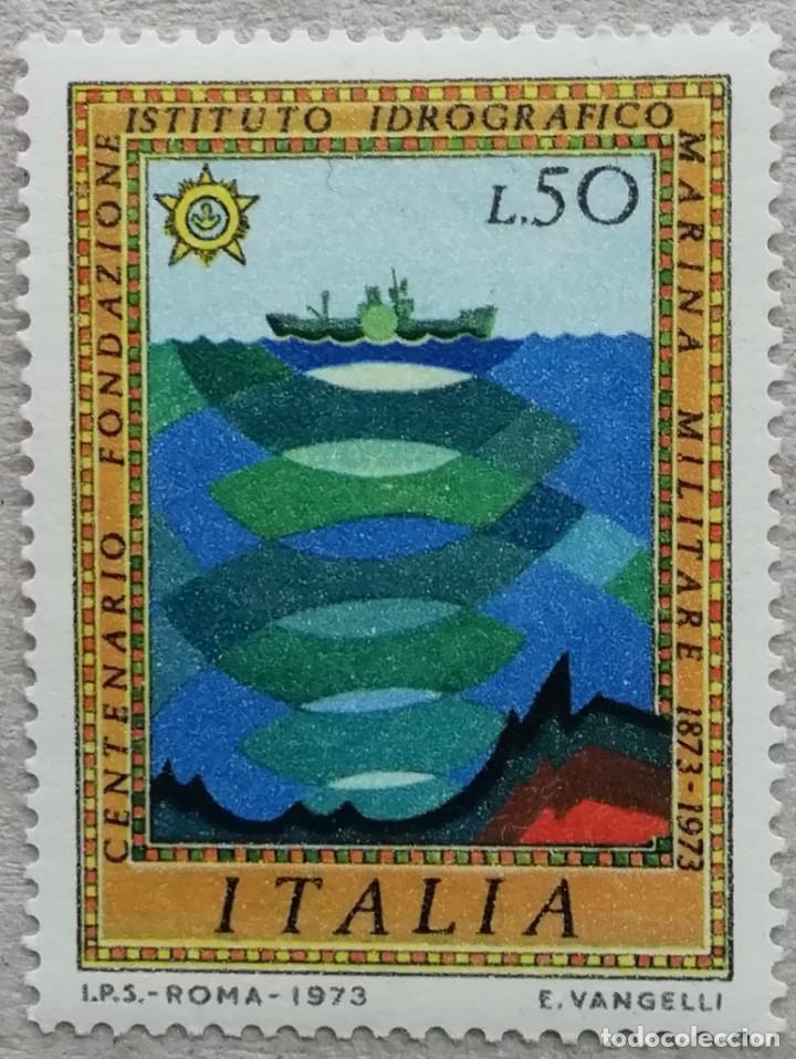 1973. ITALIA. 1132. CENTENARIO INSTITUTO HIDROGRÁFICO MARINA MILITAR. SONAR. SERIE COMPLETA. NUEVO. (Sellos - Temáticas - Militar)