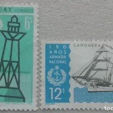 Sellos: 1968. URUGUAY. 771, 772. 150 AÑOS DE LA ARMADA URUGUAYA. USADO.. Lote 246101870