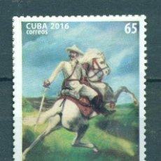 Sellos: ⚡ DISCOUNT CUBA 2016 ANTONIO MACEO GRAJALES MNH - HORSES, ANTONIO MASSEO. Lote 253852075