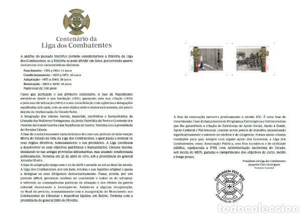 Sellos: Portugal ** & PSG Centenario de la Liga de Combatientes 2021 (8679) - Foto 2 - 254323915