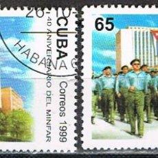 Sellos: CUBA Nº 4260/1, 40 ANIVERSARIO DE LAS MILICIAS ARMADAS REVOLUCIONARIAS, USADO (SERIE COMPLETA). Lote 254796950