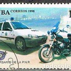 Sellos: CUBA Nº 4197, 40 ANIVERSARIO DE LA POLICÍA NACIONAL REVOLUCIONARIA , USADO, SERIE COMPLETA. Lote 257710780
