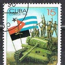 Sellos: CUBA Nº 4115,10 ° ANIVº DE LA VICTORIA DEL GOBIERNO ANGOLEÑO Y LAS FUERZAS CUBANAS EN CUITO , USADO. Lote 258999850