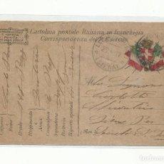 Sellos: POSTAL ITALIANA PRIMERA GUERRA MUNDIAL CIRCULADA 1917 A SIENA ITALIA. Lote 259783420