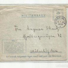 Sellos: CORREO MILITAR SUECIA SEGUNDA GUERRA MUNDIAL CIRCULADA 1943. Lote 259787550