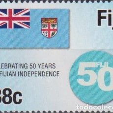 Sellos: ⚡ DISCOUNT FIJI 2020 THE 50TH ANNIVERSARY OF FIJIAN INDEPENDENCE MNH - INDEPENDENCE, COATS O. Lote 261240580