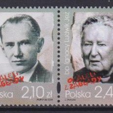 Sellos: ⚡ DISCOUNT POLAND 2009 SURVIVORS OF THE GENOCIDE MNH - WARS. Lote 262869520